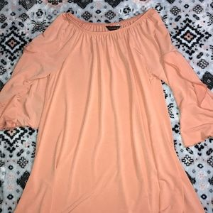 Peach colored dress - multiple ways to wear it!